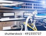Small photo of IT server room, administrator. Internet service provider.