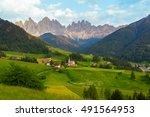 santa maddalena village in... | Shutterstock . vector #491564953