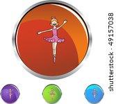 ballerina girl | Shutterstock .eps vector #49157038
