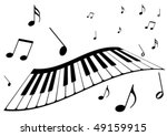 Illustration Of A Piano And...