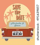 save the date design  old... | Shutterstock .eps vector #491639857