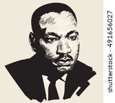 Martin Luther King. Hand Drawn...