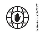 hand icon. hand icon vector....