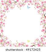 sakura frame | Shutterstock .eps vector #49172425