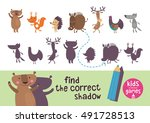 find the correct shadow. kids... | Shutterstock .eps vector #491728513