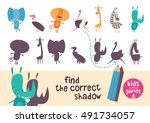 find the correct shadow. kids... | Shutterstock .eps vector #491734057