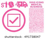 pink checkbox vector rounded...