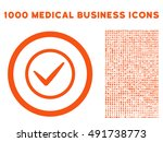 orange ok vector rounded icon....