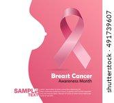 breast cancer october awareness ...   Shutterstock .eps vector #491739607