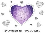 purple heart isolated on white...