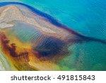 water pollution in river near... | Shutterstock . vector #491815843