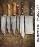 kitchen carving knives and a...   Shutterstock . vector #491837077