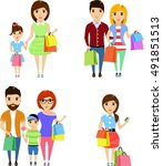 set of vector illustrations.... | Shutterstock .eps vector #491851513