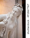 Small photo of The perfect feminine beauty in this copy of a classical Greek statue