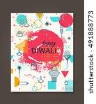 happy diwali trendy geometric... | Shutterstock .eps vector #491888773