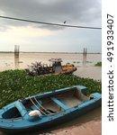 boat in river ganga | Shutterstock . vector #491933407