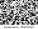 square pixel mosaic | Shutterstock . vector #491937367