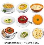 chicken soup. | Shutterstock . vector #491964157