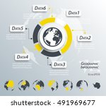 geographic infographics   world ... | Shutterstock .eps vector #491969677