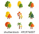 Tree Autumn Colorful Nine Icon...