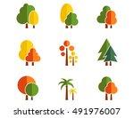 Tree Autumn Colorful Nine Icon...