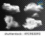 fog or smoke isolated... | Shutterstock .eps vector #491983093