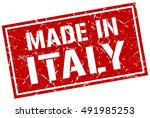 made in italy stamp. italy... | Shutterstock .eps vector #491985253