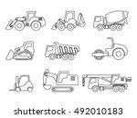 vector construction transport... | Shutterstock .eps vector #492010183