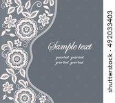 template frame  design for card.... | Shutterstock .eps vector #492033403