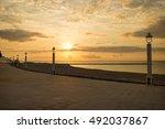 Sunset On Altea Beach Promenad...