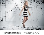 fashion style photo of... | Shutterstock . vector #492043777