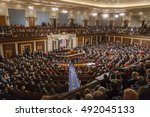 washington  dc  usa   february... | Shutterstock . vector #492045133