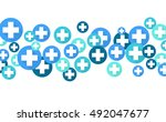 medical background  blue... | Shutterstock .eps vector #492047677