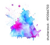 colorful abstract watercolor... | Shutterstock .eps vector #492066703