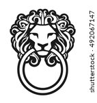 Classic Door Knocker. Lion Hea...