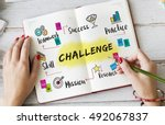 Small photo of Plan Process Strategy Challenge Business Concept