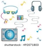music pattern. music objects....