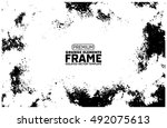 grunge frame   abstract texture.... | Shutterstock .eps vector #492075613