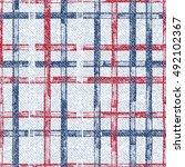 grid faded denim texture vector ... | Shutterstock .eps vector #492102367