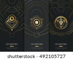 vector set of templates... | Shutterstock .eps vector #492105727