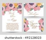 romantic invitation. wedding ... | Shutterstock . vector #492128023