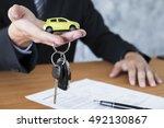 business concept  car insurance ... | Shutterstock . vector #492130867