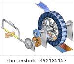 Water Wheel With Crankshaft ...