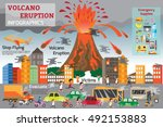 natural disasters that damage... | Shutterstock .eps vector #492153883