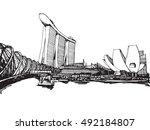 free hand sketch vector... | Shutterstock .eps vector #492184807
