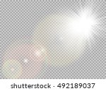 transparent sunlight special... | Shutterstock .eps vector #492189037