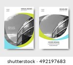 color annual report cover ... | Shutterstock .eps vector #492197683
