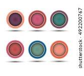 vector circle shiny web button... | Shutterstock .eps vector #492200767