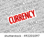 currency word cloud collage ...