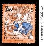 austria   circa 1995  a stamp... | Shutterstock . vector #49220410